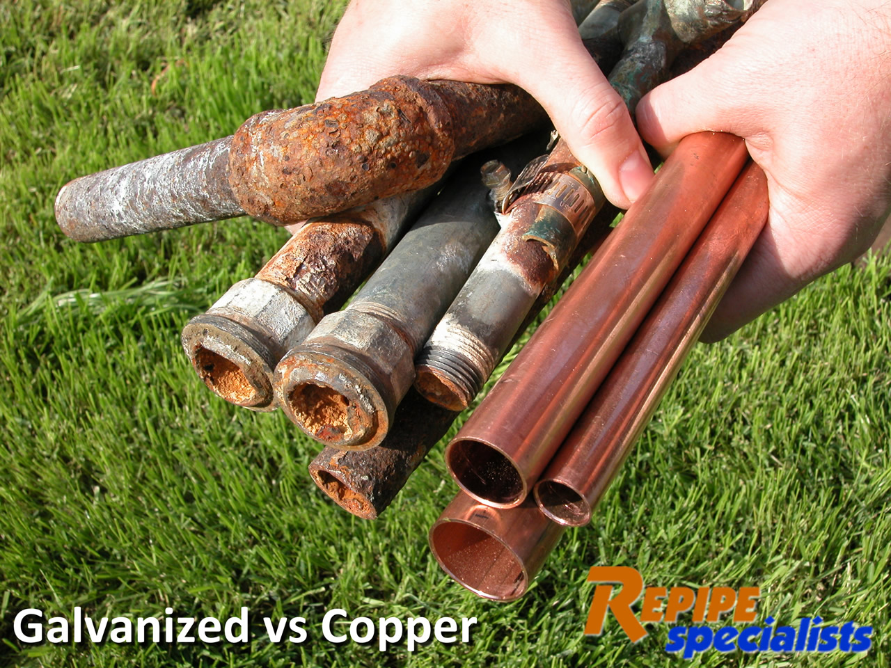 Galvanized pipe corrosion for Pex vs copper water pipes